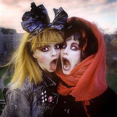 Nina Hagen and Lene Lovitch, photographed on the roof of Arista Records overlooking Cavendish Square Gardens, London 1987. Photographed for the NME.  @ninahagen #lenelovich #postpunk #ninaandlene #thegodmotherofpunk #nunsexmonkrock #riotgrrrl @nmemagazine #icon #the80s #Iamaphotograph #theeighties #portraiture #photography #london #filmphotography