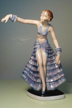 Rare Fasold Stauch Bock Wallendorf Porcelaine Allemande ART Deco Lady Figurine | eBay