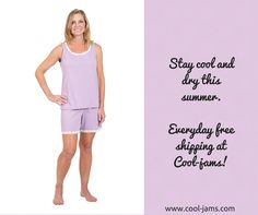 79ced6766a Moisture wicking shorty pajama set. Cool Jams Products