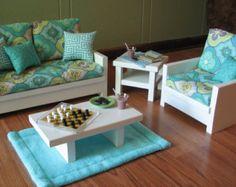 "Making+Furniture+for+18+Dolls | 18"" Doll Furniture - American Girl sized Living Room - Loveseat ..."
