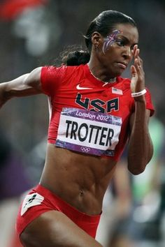 DeeDee Trotter competes on her way to winning bronze in the Olympic women's 400m.