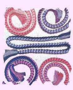 Square Kumihimo Bracelets. Friendship Bracelets. Bracelet Patterns. How to make bracelets