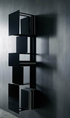 Wall-mounted steel #bookcase BUKVA by Living Divani | #design Victor Vasilev
