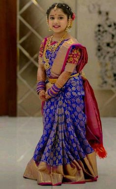 Huge Latest Collection of Traditional Dresses for Girls. For More Details WhatsApp 9849565683 Frocks For Girls, Dresses Kids Girl, Kids Outfits, Baby Dresses, Long Dresses, Elegant Dresses, Kids Saree, Kids Lehenga Choli, Kids Indian Wear