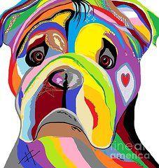 Bulldog Print - Bulldog Print by Eloise Schneider