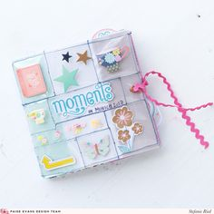 Well this is a super cute mini album by design team member Stefanie Ried for several reasons: she used my new Turn the Page collection, . Mini Album Scrapbook, Scrapbook Cover, Mini Albums Scrap, Baby Mini Album, Cute Scrapbooks, Planners, Tsumtsum, Mini Album Tutorial, Diy Notebook