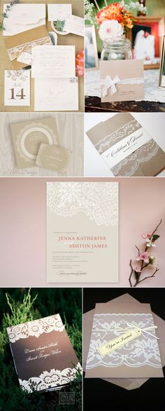 invitations - maybe use letterpress instead of actual lace? could be less expensive