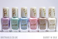 Brit Nails: Barry M Silk Collection Swatches and Review