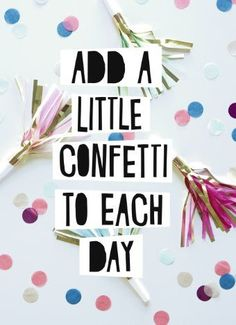 Add a little confetti to each day and make every day a happy day! #Hallmark #HallmarkNL #Wenskaart #VersvandePers
