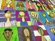 For this self-portrait project, 4th graders learned all about Italian artistModigliani.I was actually not familiar with this artist until starting my teaching job at EDS and found an old print w…