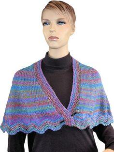 Knitting - Pretty as a Peacock Wrap - #REK0359