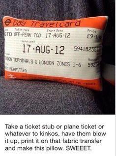 awesome idea!! thinking of doing it with my shawn mendes concert ticket! or california plane ticket
