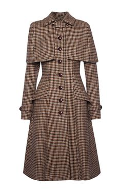 This **Lena Hoschek** Sherlock Harris Tweed coat features a pointed collar with…