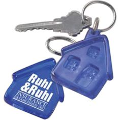 Insurance companies, real estate agents and more will love the targeted promotional look of these house shaped keychains. Each of these handy giveaways features an imprinted house attachment and is perfect for securing car keys, house keys, grocery store cards and more. A printed reproduction of your organization's name and logo will appear on the front of each house for a promotional look that's ready to hit the road. Get started with your order today!