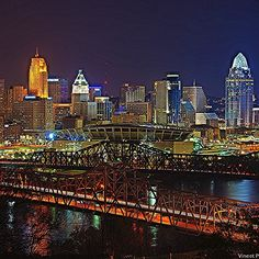 Love this shot of Cincinnati at night? We have so many skylines available on a number of wall art pieces. ☺️ Click the link in our bio to Insta-Shop with @CafePressInc! #cincy #cincinnati #city #skyline #buildings #towers #skyscrapers #nighttime #bridges #ohioriver #lickingriver #architecture #instaShop #CPShare