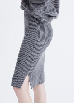 Ribbed Sweater Skirt