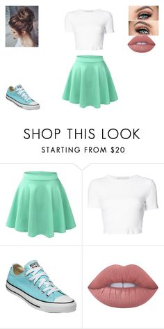 """Rosabella Roberts"" by maraudersgirl123 ❤ liked on Polyvore featuring beauty, LE3NO, Rosetta Getty, Converse and Lime Crime"