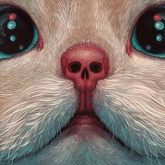 Post with 1581 votes and 52388 views. Tagged with cat, art, cool, painting; The dark & creepy cat paintings of Casey Weldon Kunst Inspo, Art Inspo, Art And Illustration, Psychedelic Art, Fantasy Kunst, Fantasy Art, Art Sketches, Art Drawings, Arte Sketchbook