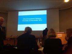 CCLA Investment Seminar @ The Royal Society
