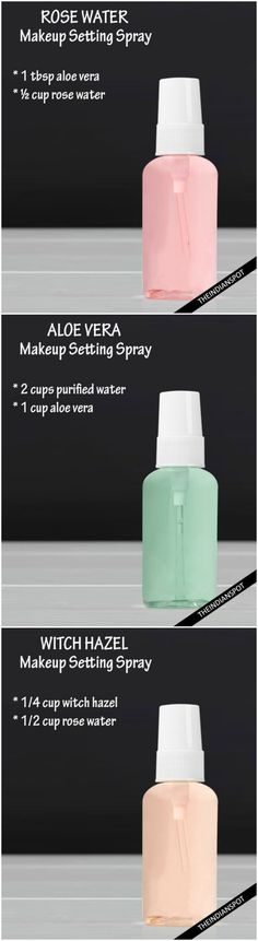 DIY 3 Natural Makeup setting Spray for long lasting and flawless makeup