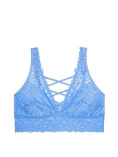 94dbb1be9e31d Unlined Wildflower Lace Plunge Bralette - PINK - Victoria s Secret Pink Bra