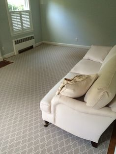 We are the carpet and rug experts in Boston. We will custom fabricate stair runners, area rugs and hall runners to fit your home perfectly. Home Carpet, Carpet Sale, Rugs On Carpet, Custom Area Rugs, Hall Runner, Custom Carpet, Design Blogs, Stairs, Couch