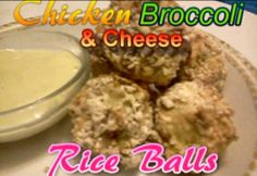How To Make Baked Chicken Broccoli & Cheese Rice Balls - Easy Toddler Recipe