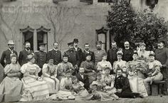 I believe this photograph was taken in Coburg in 1894 following the wedding of Ernie and Ducky. (They are not pictured because they would have already left for their honeymoon.) I love it because Alix (seated in the second row between one of her cousins and Grand Duchess Maria Pavlovna) looks so happy and beautiful. She rarely showed her beautiful smile during her many years in Russia. Nicholas, on the other hand, looks a little bit grouchy that he is stuck next to the Kaiser; who has his…