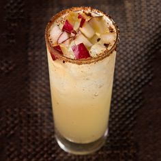 Mazanasada: Tequila and mexcal gang up with apple cider and ginger beer in this fall-forward cocktail. Don't forget the spiced sugar rim!