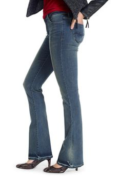 Butter soft bootcut low rise jeans