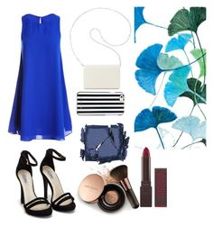 """Blue Inspiration"" by neldy-naranjo ❤ liked on Polyvore featuring Sans Souci, Nly Shoes, Nine West, MICHAEL Michael Kors, Nude by Nature, Surratt, Burt's Bees and Grandin Road"