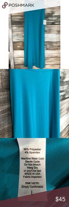 LuLaRoe Solid Blue Maxi Skirt LuLaRoe Maxi Skirt. Super soft and stretchy material! LuLaRoe Skirts Maxi