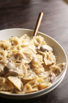 Creamy Mushroom Pasta | The creamy garlic mushroom sauce is easily customized based on whatever you have in your fridge, and it's ready in just 30 minutes.