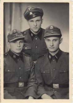 Three brothers of the famed 12th SS-Panzer Division Hitlerjugend of the Waffen-SS. 3 x HJ. by Ayame Ekdahl, via Flickr