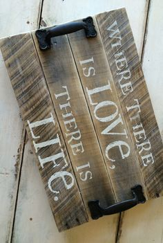 Rustic Inspiring Reclaimed Wood Serving Trays - DIY?