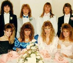 One of the simplest 80s hairstyles that virtually anyone with medium to long hair can pull off is the side ponytail. The higher the ponytail and the bigger the scrunchie, the better this do will look. see the girl on the far left...also the big perm obviously was popular