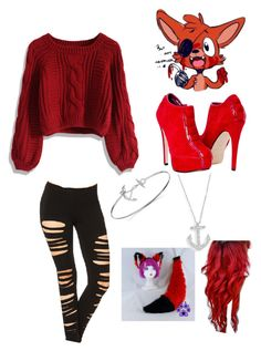 """""""FNAF Foxy"""" by abbybowne ❤ liked on Polyvore"""