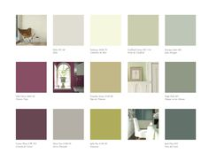 Paint Colors Green Colors And Charts On Pinterest