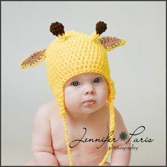 Giraffe Hat    PROP COSTUME Newborn to 18 Month sizes via Etsy