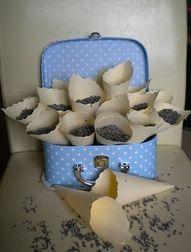 lavender confetti cones
