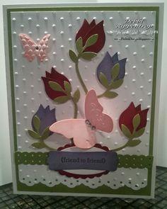 prettiest tulip punch card I've seen