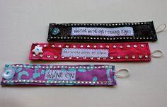 Shine On - Rhinestone and Purple Batik Fabric Bracelet