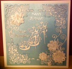 This  fabulous card was made by Liz Reeves using the High Heel Glam Die.