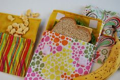tutorial for reusable sandwich bags!  Gotta do it! tutorial by guest Kira on The Kid Can Cook blog