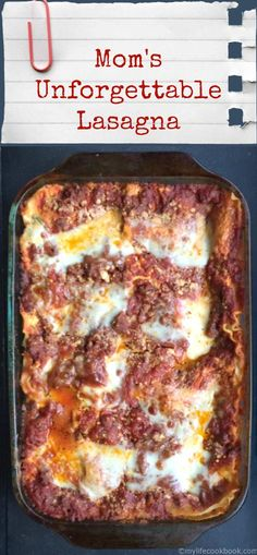 This is the best lasagna I've ever had and my whole family makes it. It lasts for days and you can make ahead and freeze.