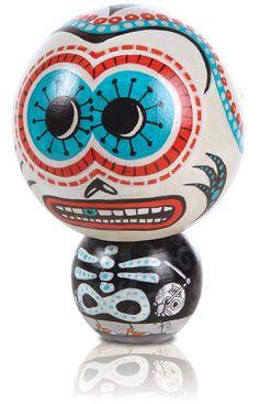 Dia de Los Muertos kokeshi doll