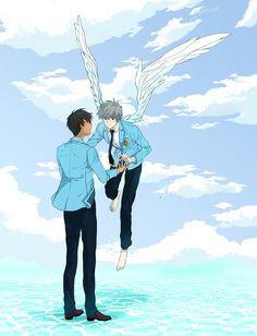 CardCaptor Sakura ~~~ Touya and Yukito by penguin, I had such a big crush on yukito when i was in junior/ high school