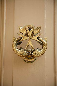 Maltese Cross Door Knocker