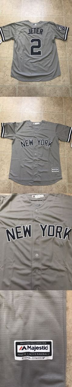 Baseball-MLB 24410: Derek Jeter #2 New York Yankees Gray Cool Base Men S Jersey Size S Small -> BUY IT NOW ONLY: $40 on eBay!