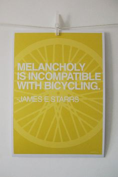 Cycling Quotes poster series by Marc Evans.